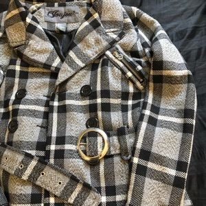 Fitted plaid jacket